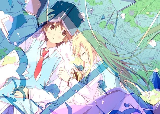 Konachan.com - 148550 animal book cat kanda_sorata kinoshita_neko sakura-sou_no_pet_na_kanojo shiina_mashiro sleeping tagme tie
