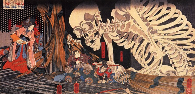 skeleton-woodblock-print